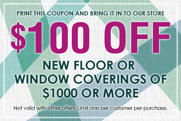 Save 100 On Floor Or Window Covering Purchase 20 Off Cleaning