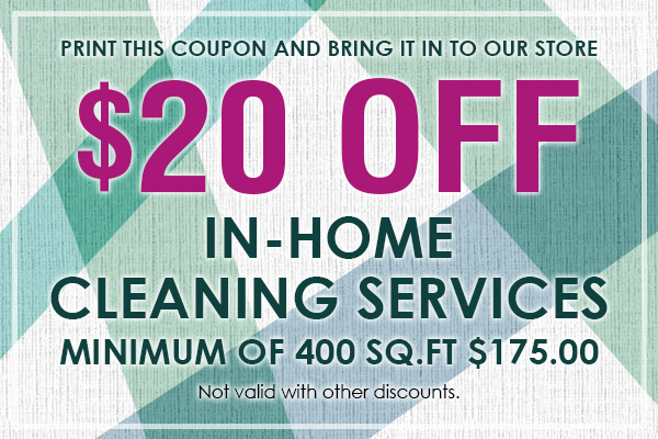 Receive $20 off in-home cleaning services at Gillespie's Abbey Carpet & Floor.