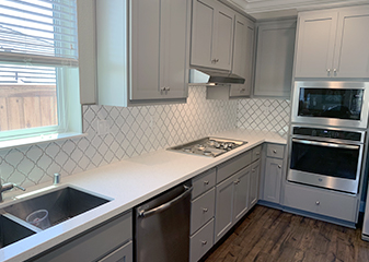 Backsplash and Countertops by Gillespie's Abbey Carpet & Floor in Fairfield, California